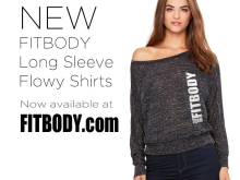 New FITBODY Long Sleeve Shirts on Sale!