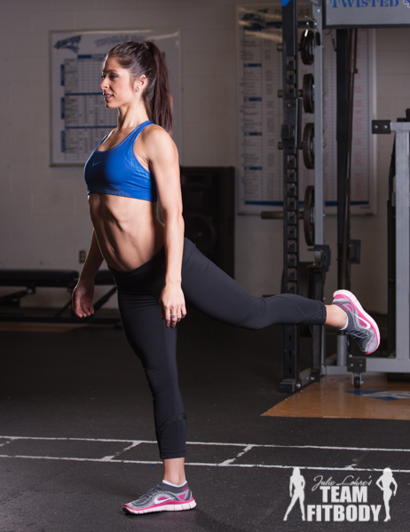 Standing Leg Lift with Glute Squeeze