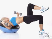 Dumbbell Flye with Glute Lift