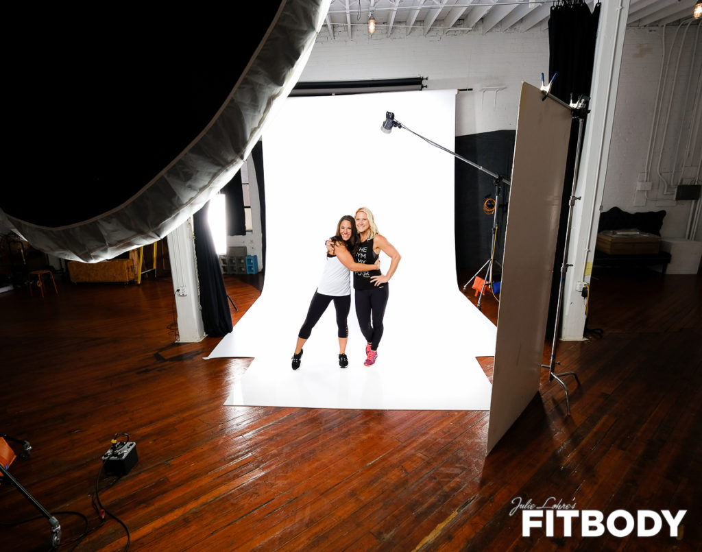 Behind the scenes fitness photo shoot