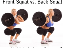 Front Squat versus Back Squat