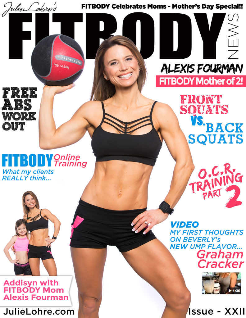 Cover of Julie Lohre's women's fitness magazine FITBODY News