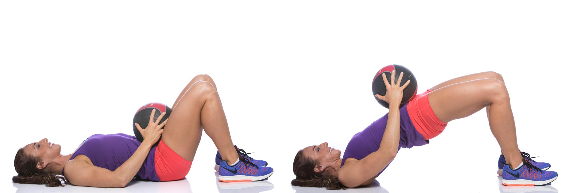 Butt workouts for women weighted glute bridge